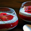 Smoothie ChiaSamen und Beerenfrucht